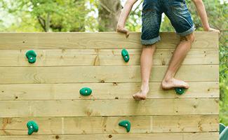 Plum Wooden Climbing Frames